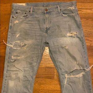 Distressed Hollitser Jeans